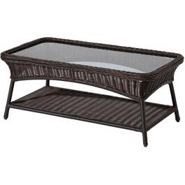 "40"" x 21"" Montauk Rectangular Wicker Coffee Table thumb"