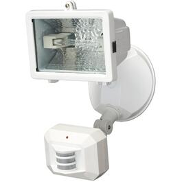 White 150 Watt 180 Degree 1 Halogen Light Motion Security Light with Dusk to Dawn thumb