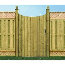 5' Spruce Convex Privacy Gate Fence Package thumb