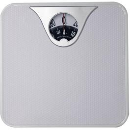 300lb Capacity White Compact Dial Bath Scale thumb