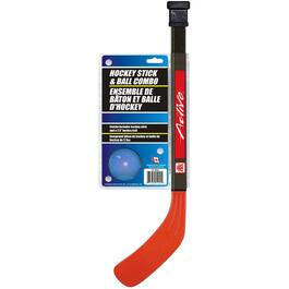 Indoor Straight Blade Hockey Stick and Ball Combo thumb