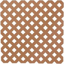 4' x 8' Redwood Diamond Vinyl Privacy Lattice thumb