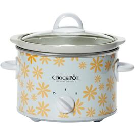 2.5 Quart Round White/Yellow Daisy Slow Cooker thumb