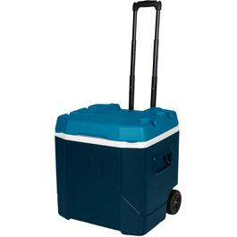 54 Quart Black/Turquoise/White Profile Cooler, with Rollers thumb