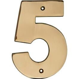 "5"" Polished Copper '5' House Number thumb"