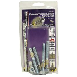 "4 Pack 3/8"" x 2-3/4"" Wedge Anchors, with Bits thumb"