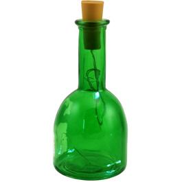 "7"" Green Glass Bottle, with Battery Operated LED Lights thumb"