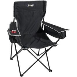 Black Camping Chair, with Beverage Holder thumb