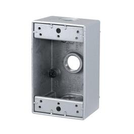 White Weatherproof Outdoor Metal Single Gang Device Box thumb