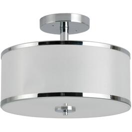 Portland Chrome Semi-Flush Light Fixture thumb
