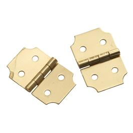"2 Pack 5/8"" x 1"" Brass Decorative Hinges thumb"
