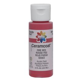 2oz Fire Red Acrylic Ceramcoat Craft Paint thumb