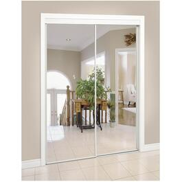 "36"" x 80"" White Top Roll Mirror Sliding Door thumb"
