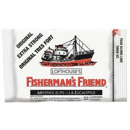 22 Piece Extra Strong Fishermans Friend Original Cough Drops thumb