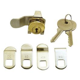 5 Cams Brass Mailbox Lock thumb