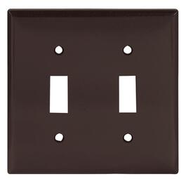 Brown 2 Toggle Switch Plate thumb