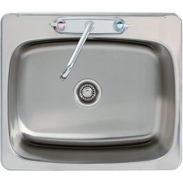 "17.5"" x 25.5"" x 12"" 3 Hole Stainless Steel Laundry Sink thumb"