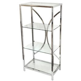 "4 Tier 20"" x 40"" Glass Shelves Martini Bookcase thumb"