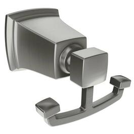 Boardwalk Brushed Nickel Double Robe Hook thumb