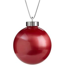 150mm Battery Operated Red Ball Ornament thumb