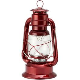 Battery Operated Hurricane Red Metal LED Lantern thumb