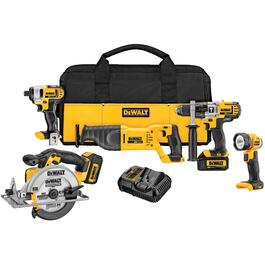 5 Tools 20 Volt Lithium-ion Cordless Combo Kit thumb