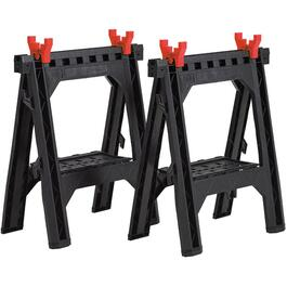 2 Pack Poly Compact Folding Sawhorses thumb