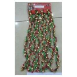9' Red/Green/Gold Beaded Garland thumb