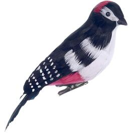"7"" Black, White and Red Woodpecker Clip-on Ornament thumb"