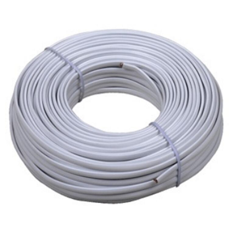 100\' White 4 Conductor Phone Cord - Home Hardware