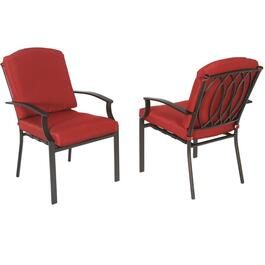 4 Pack Ridgemont Steel Dining Chairs, with Cushions thumb