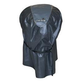 Black Heavy Duty Vinyl Barbecue Cover, with Polyester Base thumb