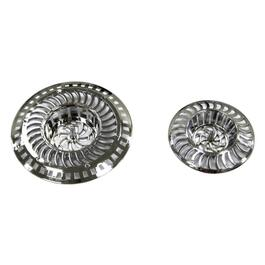 2 Pack Chrome Plated Plastic Sink Strainers thumb