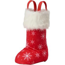Red Snowflakes Stand-Up Stocking thumb