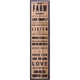 "10"" x 39.5"" On The Farm Wall Plaque thumb"