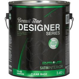 3.40L Clear Base Satin Finish Interior Latex Paint thumb