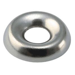 25 Pack #6 Nickel-Plated Steel Finish Washers thumb