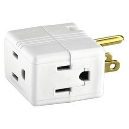 3 Outlet White Cube Wall Tap thumb
