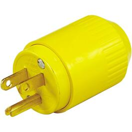 3 Wire 15 Amp 125V Yellow Electrical Plug thumb