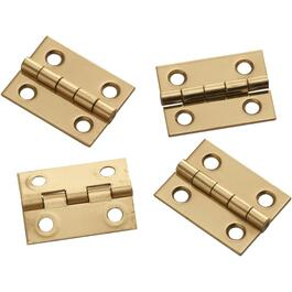 "4 Pack 1"" x 3/4"" Solid Brass Narrow Hinges thumb"