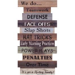 "16"" x 30"" Hockey Family Wall Plaque thumb"