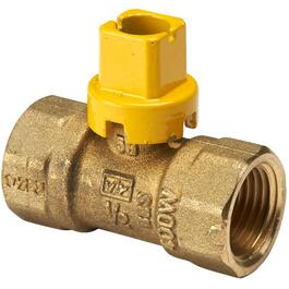 "1/2"" Female Imperial Pipe Square Head Gas Valve thumb"