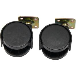"2 Pack 2"" Twin Wheel Swivel Plate Casters thumb"