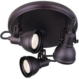 Polo 3 Light Oil Rubbed Bronze Flush Track Ceiling Light Fixture thumb