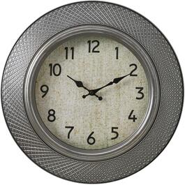 "16"" Pewter Round Billy Wall Clock thumb"