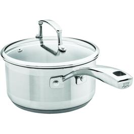 1 Quart Stainless Steel Saucepan, with Glass Lid thumb