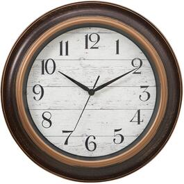 "16"" Round Barnboard Ebony Wall Clock thumb"