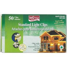 50 Pack White C7/9 Snap-In Light Clips thumb