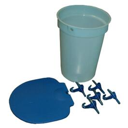2 Gal Poly Sap Bucket Kit, with Lid and Spouts thumb