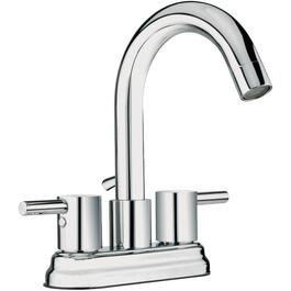 "4"" Lavatory Faucet with Chrome Lever Handles and Hi-Spout thumb"